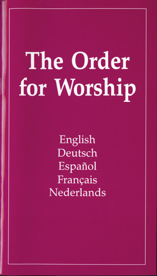 The Order for Worship